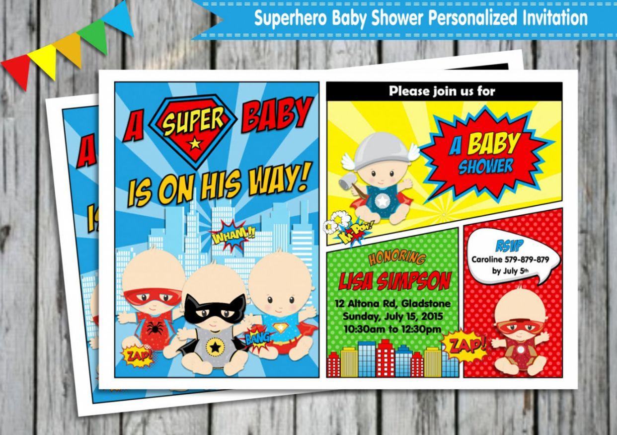 Superhero Baby Shower Invitations Free Designs