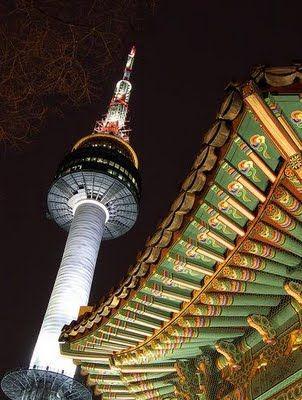 Seoul Tower Is The Best Place To Enjoy Night View Viajar A Corea Del Sur Korea Del Norte Corea Del Sur
