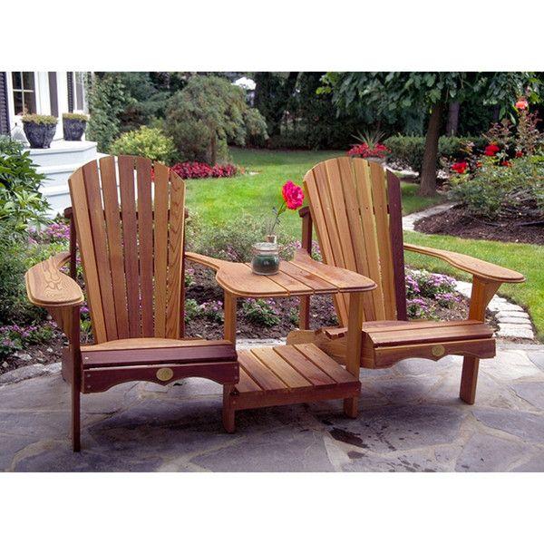 Bear Chair Tete A Tete Adirondack Chair Kit Cedar Bc900