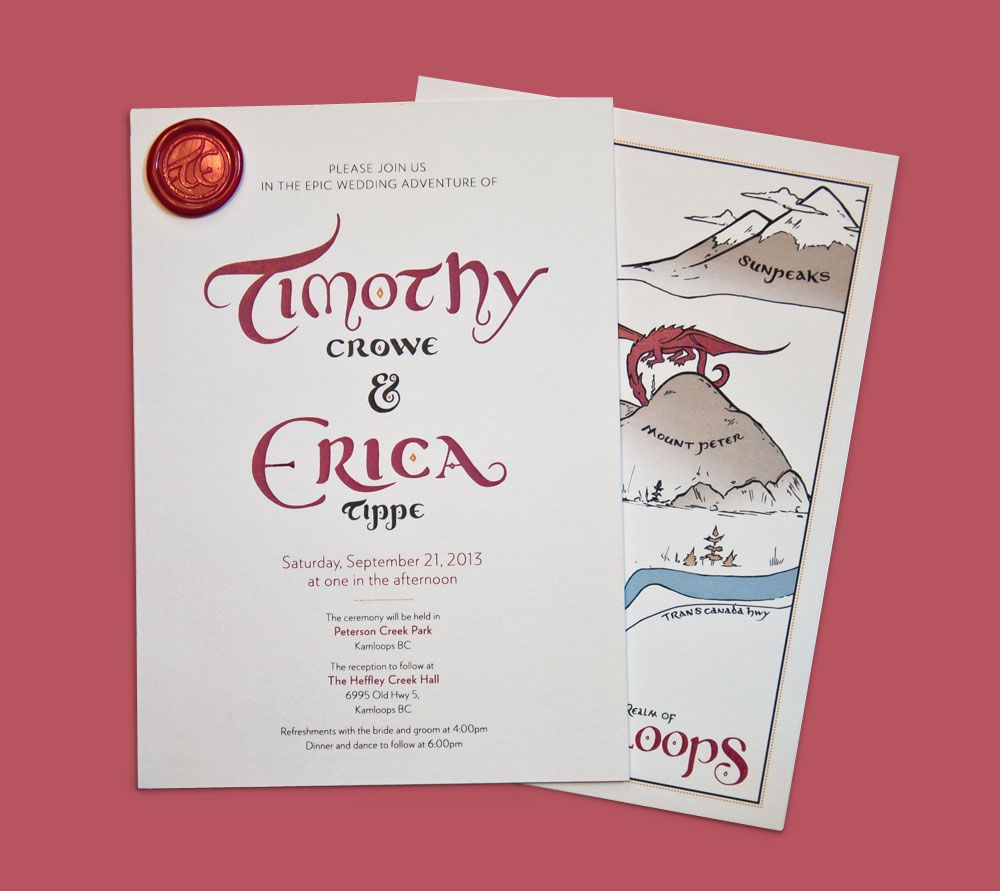Image Result For Dungeons And Dragons Wedding Invitations 3