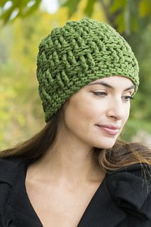 824a06898a0 Basketweave Hat - free super chunky crochet pattern by Anna R. Simonsen for  Cascade Yarns