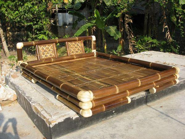 bambusbett bambusm bel garten bambusrohre bambus gartenm bel gartengestaltung pinterest. Black Bedroom Furniture Sets. Home Design Ideas