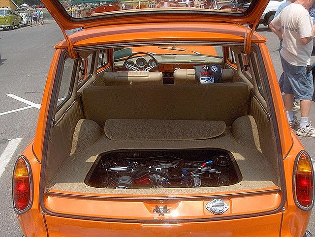 squareback interior with engine by Howard33, via Flickr