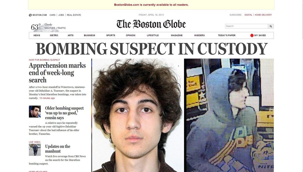 Boston Marathon: The Suspect's Arrest And The Lessons For Bostonians…