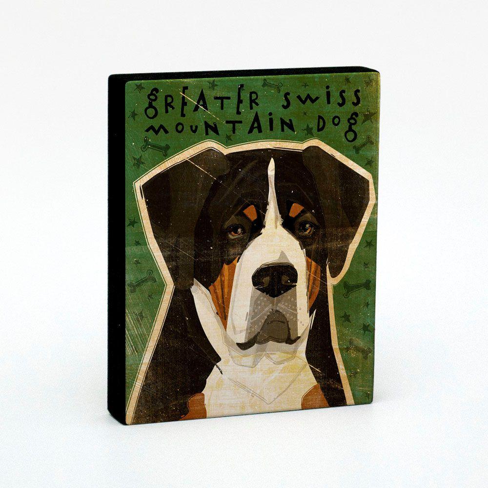 Greater Swiss Mountain Dog Art Block 4