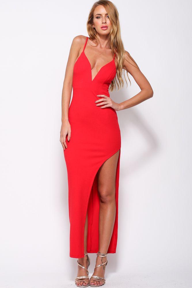 Red maxi dress 8 limbs