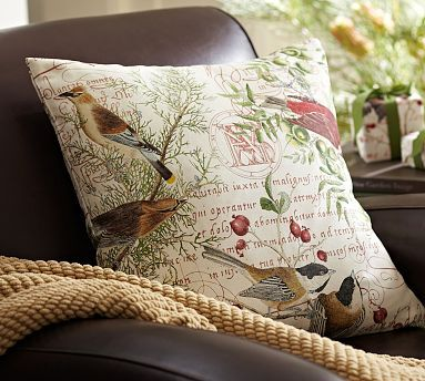 Winter Bird Pillow Cover Potterybarn Just Find Some Pretty Fabric And Make Slipcovers For Pillows