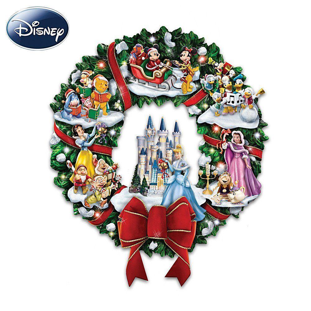 The Wonderful World Of Disney Character Christmas Wreath