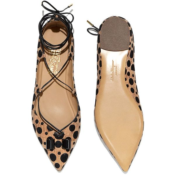 best place cheap online Salvatore Ferragamo Suede Wrap-Around Flats clearance supply top quality purchase cheap price d1lh4