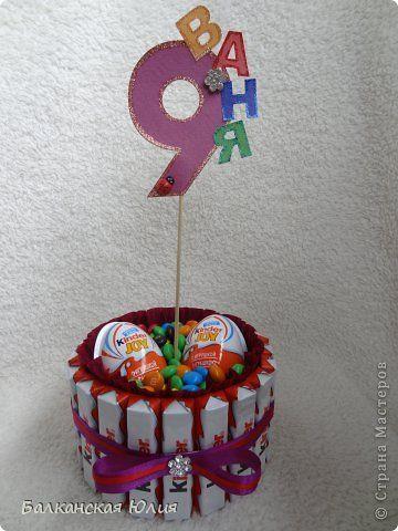 торт из конфет для мальчика на день рождения: 11 тыс ...