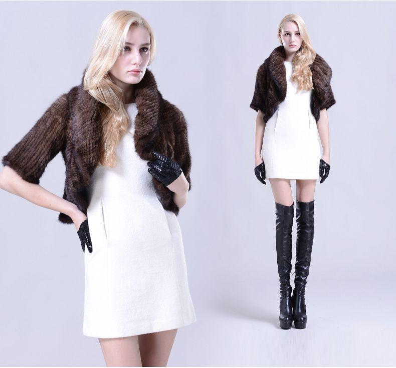 Hand-woven Natural Mink Fur Jacket Pure Manual Mink Fur Coat Knitting Warm Real Mink Sweater Mink Fur Coats Women $867.20
