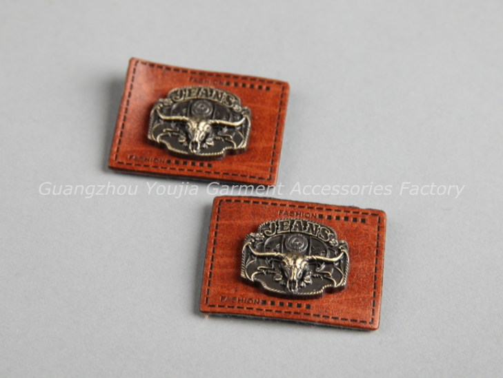 92eec276e918 china jeans leather metal labels