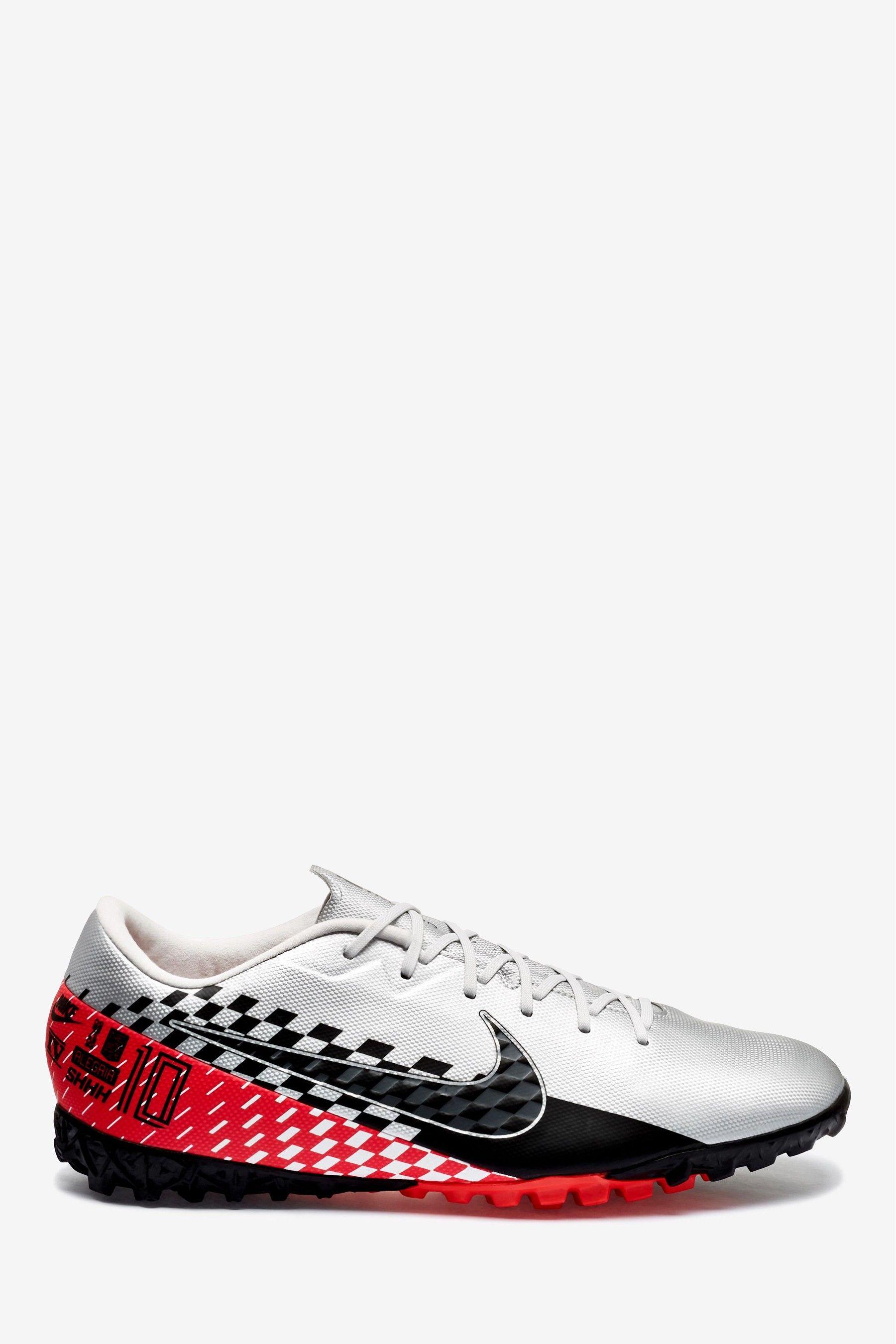 Mens Nike Chrome Neymar Vapor Academy Turf Football Boots Grey Football Boots Nike Neymar