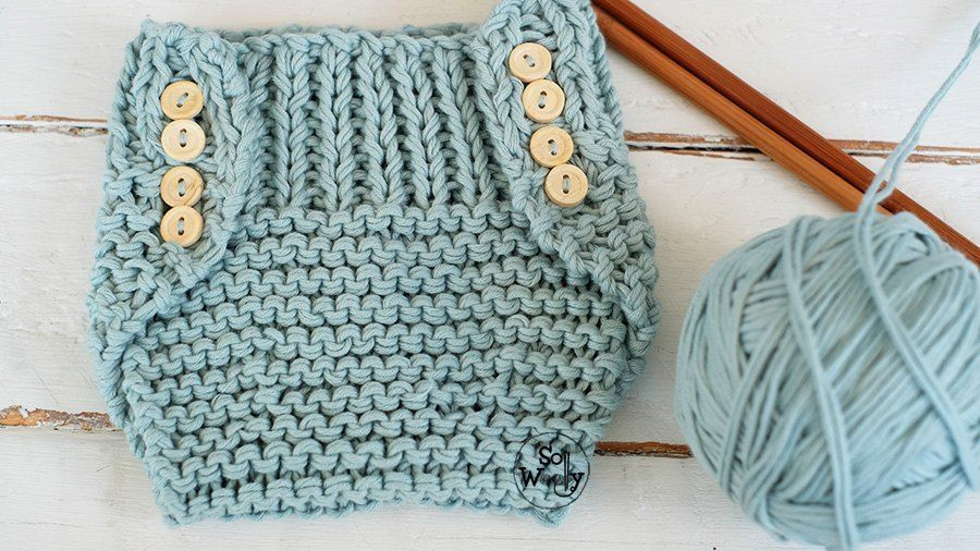 Diaper Cover knitting pattern step by step two sizes ...