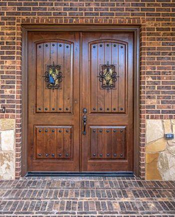 KNOTTY ALDER DOUBLE ENTRY DOOR ARCH TOP 6ft x 8ft EX-1341 - KSR Door and Mill Comany