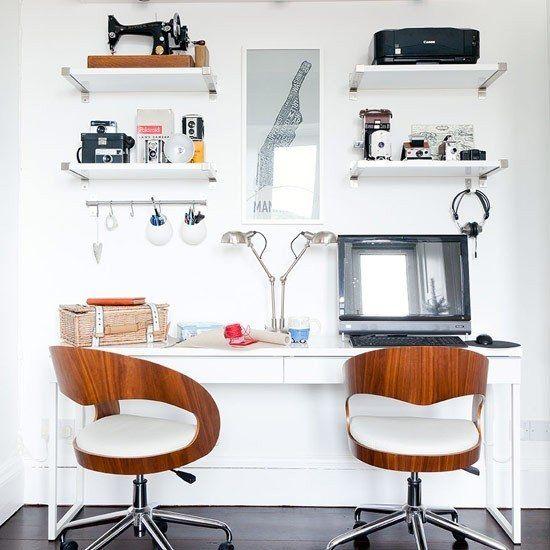 mobilier moderne bureau domicile chaises bois etageres