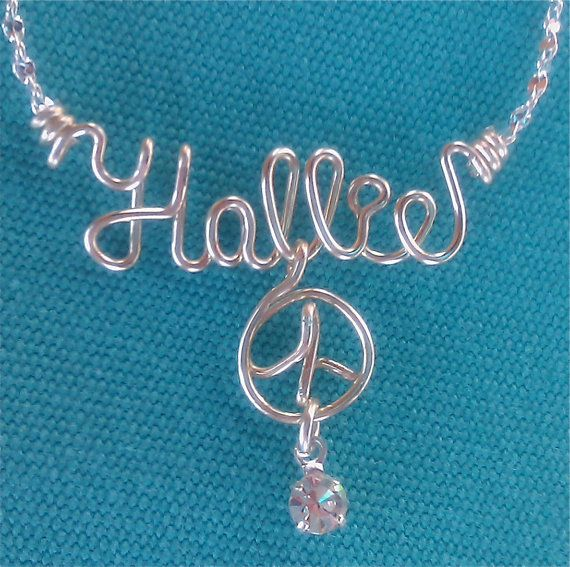 Personalized Jewelry Silver Wire Name Necklace | Accessories ...