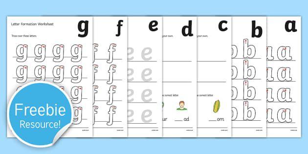 A Z Letter Formation Worksheets Kids Handwriting Practice Letter Formation Practice Letter Formation