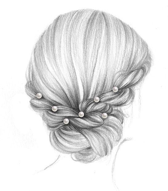 Les coiffures double jeu de 365c Hair ideas! Dessin