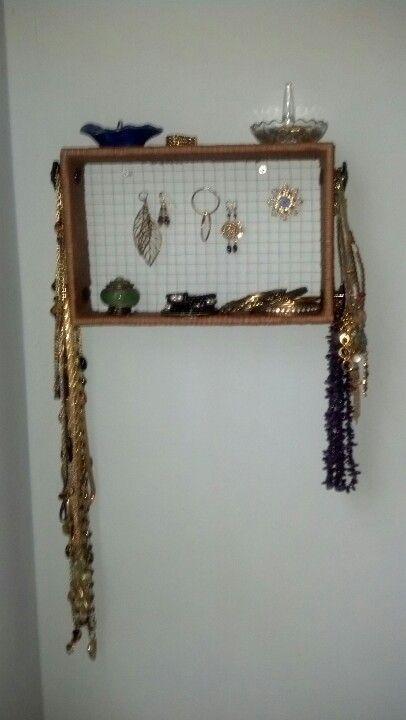 """""""Vintage"""" jewelry storage wall art"""