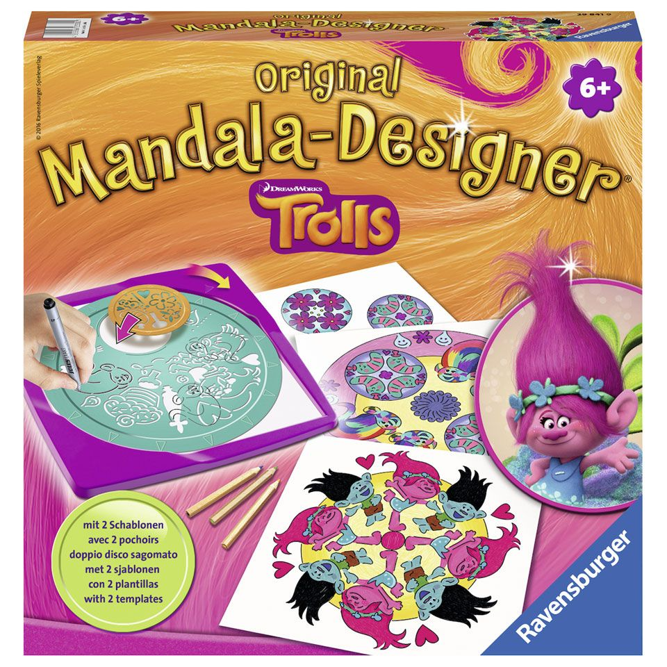 Ravensburger Trolls mandala designer 2-in-1   Intertoys
