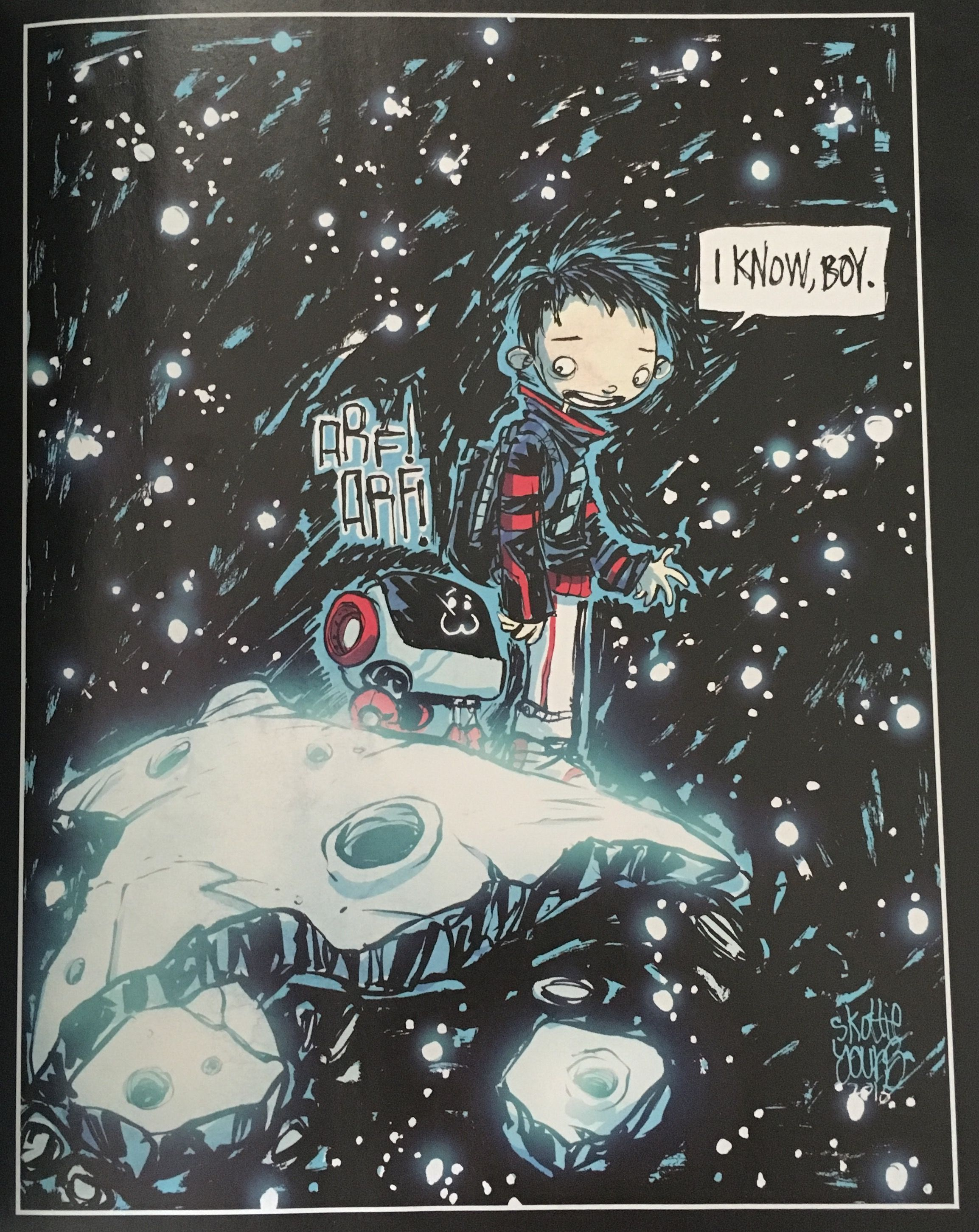 Drawing done by Skottie Young for the guys producing the Descender series by Image Comics. Located on the last page of Descender #10