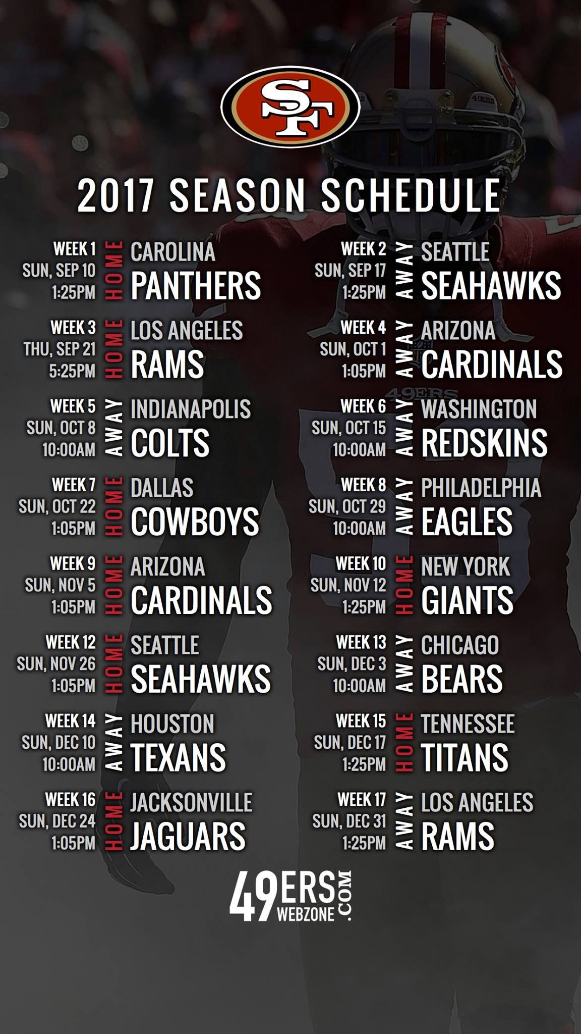 20172018 season schedule NinerEmpire San francisco