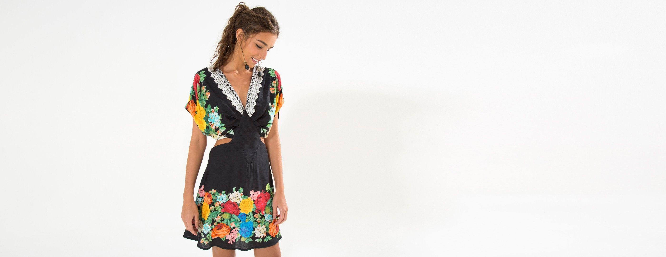 vestido curto borbali | FARM