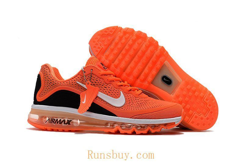 separation shoes 30aab fa727 Nike Air Max Movement Fitness Sneaker orange and black men running shoe