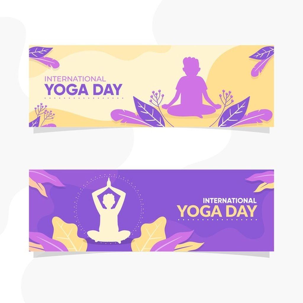 Flat Design International Day Of Yoga Banner Paid Ad Ad International Banner Yoga Design In 2020 Yoga Day International Yoga Day Medical Technology