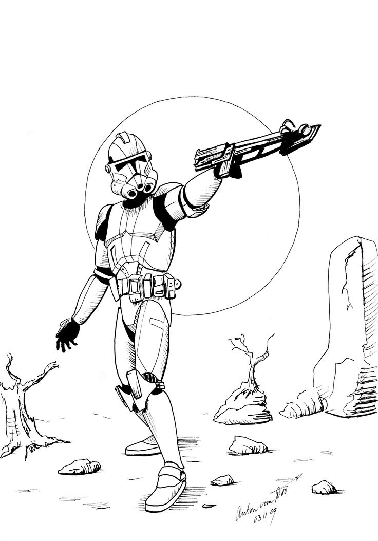Clone Trooper Coloring Page Republic Commando Mandalorians