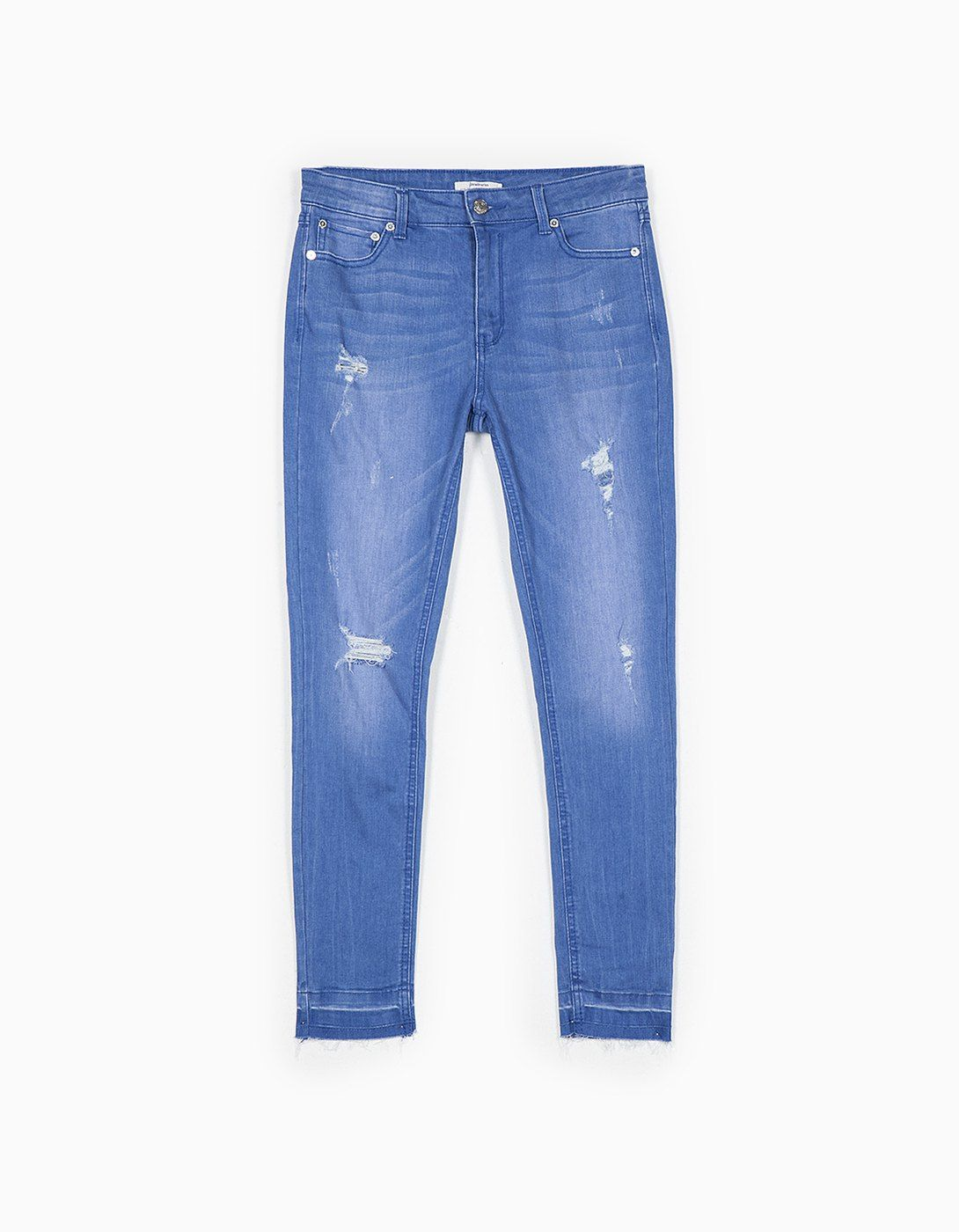 Denim cropped destroyed 25,95 EUR | Stradivarius