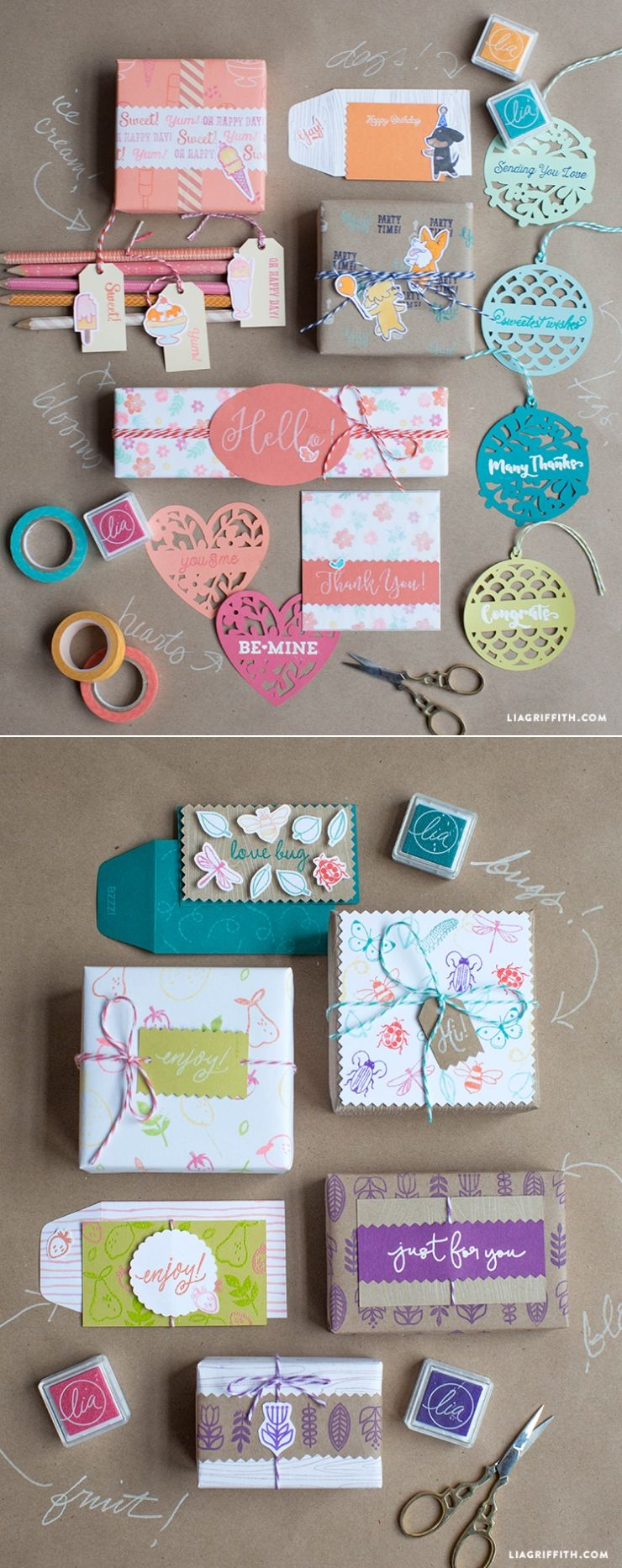 DIY Gift Wrap Customized with Stamps | Pinterest | Ideen für ...