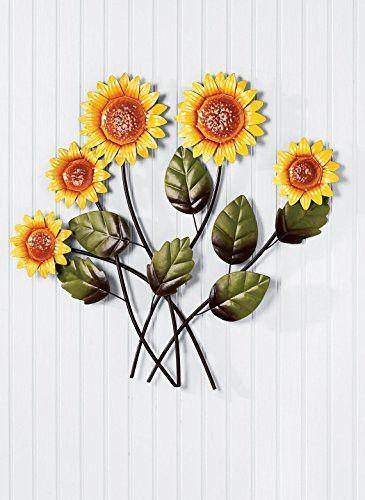 Sunflower Metal Wall Sculptures | Metal wall sculpture, Wall ...