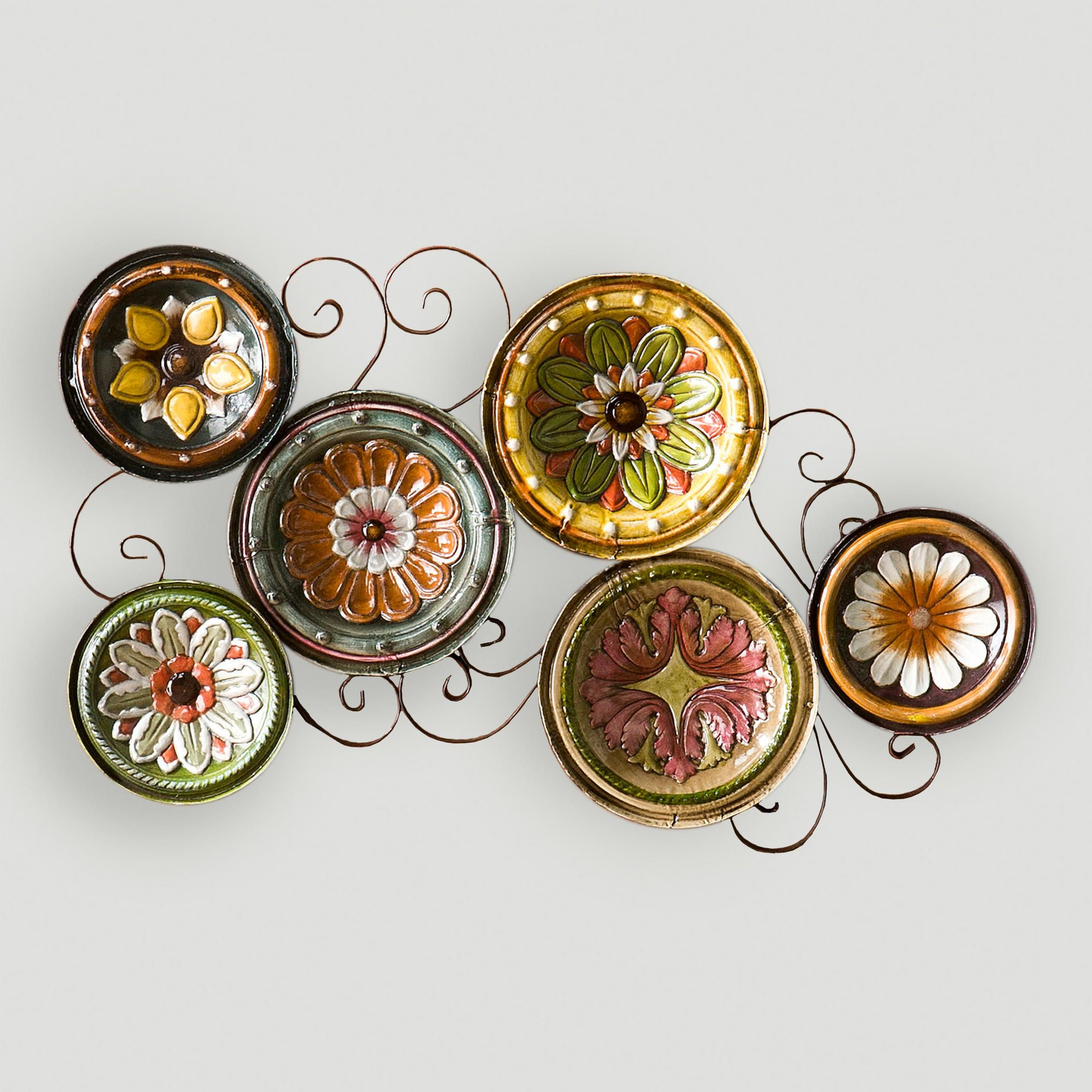 Delfina Italian Scattered Plates Wall Art | Plate wall, Walls and ...