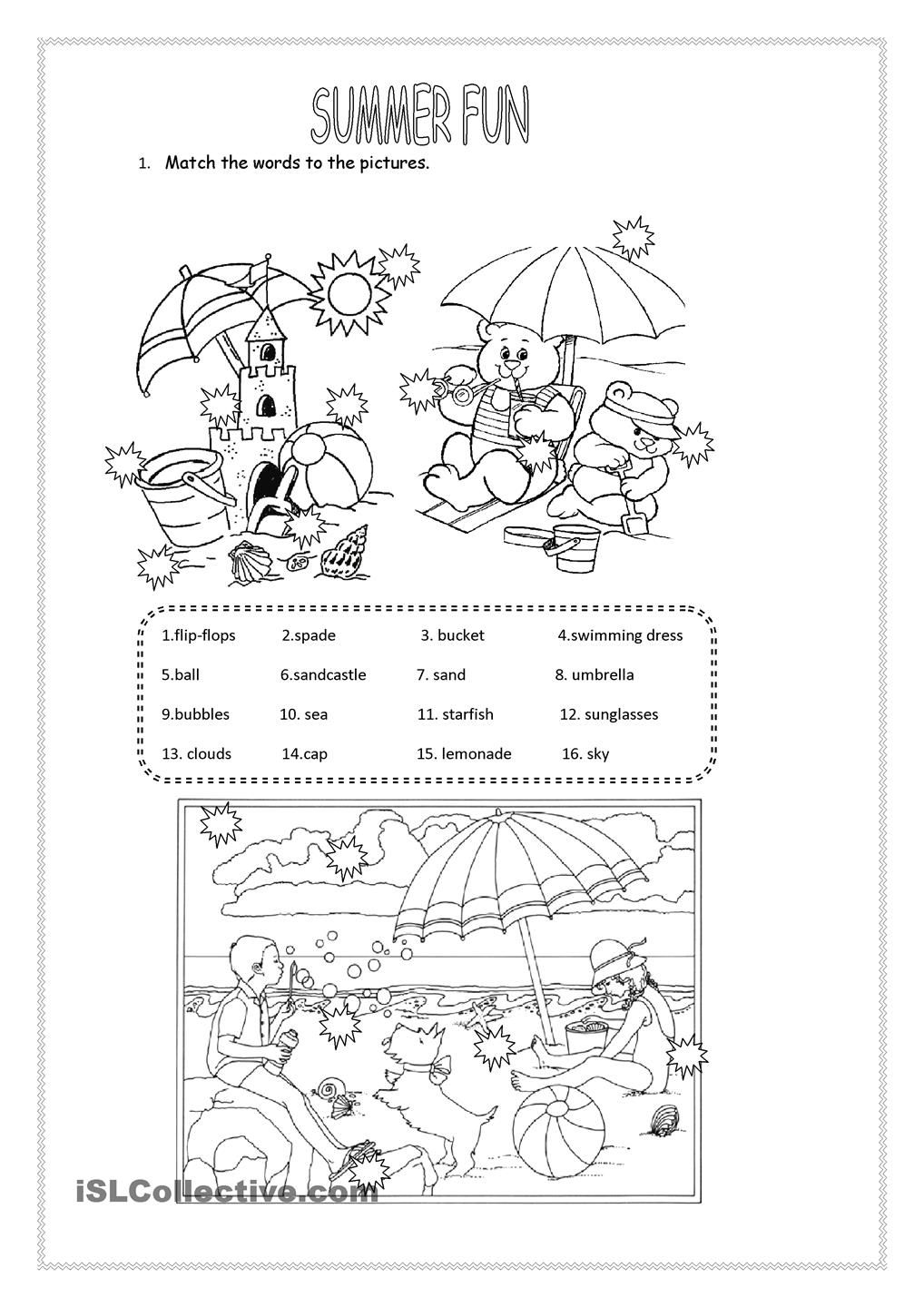 Summer Fun With Images Summer Worksheets Summer Fun Fun