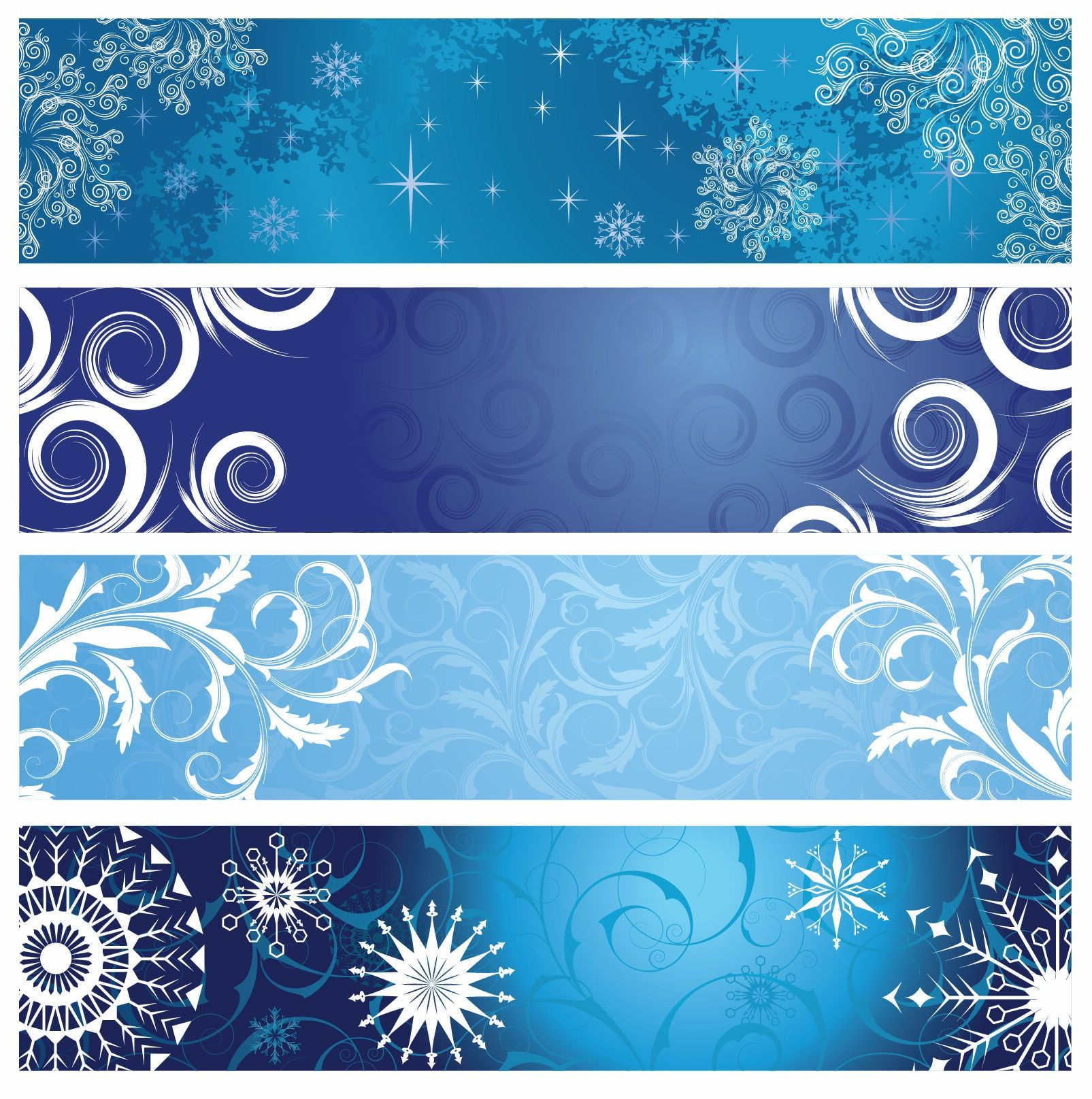 Free Vector Graphics Vector Christmas Banners with
