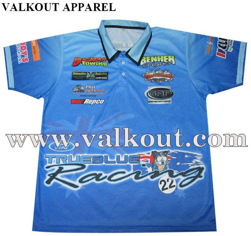 d8f23a471 Custom Short Sleeve Racing Sport Polo Shirts In China | Valkout Apparel Co.  ,Ltd - Custom Sublimated Fishing Jerseys, Sublimated T Shirts, Custom  Sublimated ...