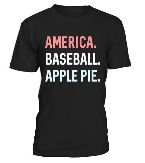 america baseball apple pie sport summer patriotic t