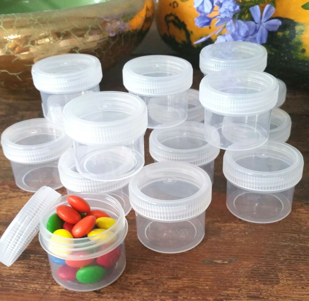 90 Hobby Clear Jars Caps 4304 Craft Mini Parts Container 1oz To Top Decojars Us Decojars Clear Jars Crystal Bead Jewelry Jar