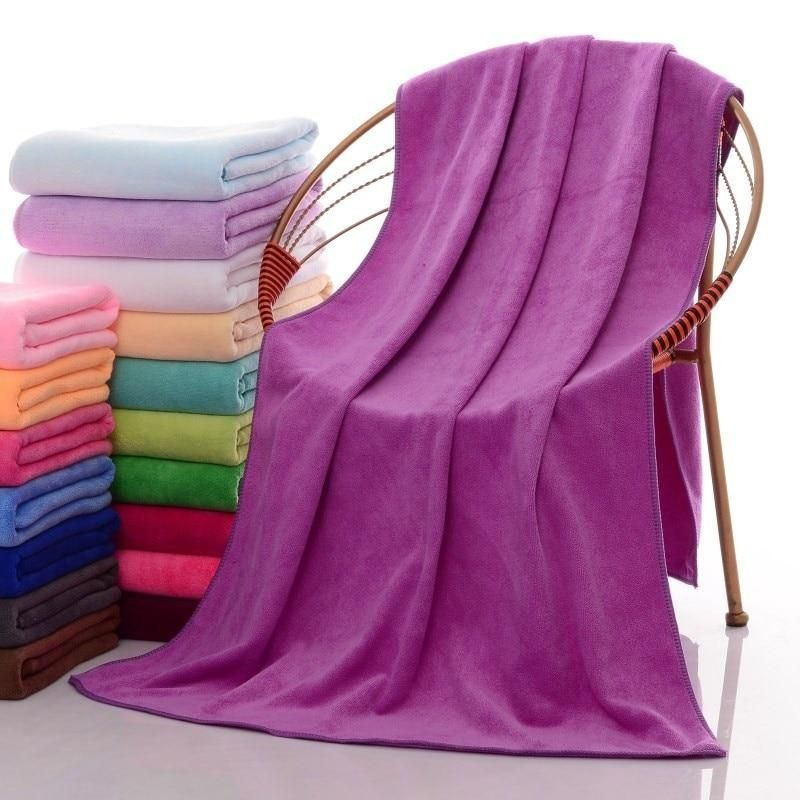 10 Color New Fashion Soft Microfibre Beach Bath Towel Swim