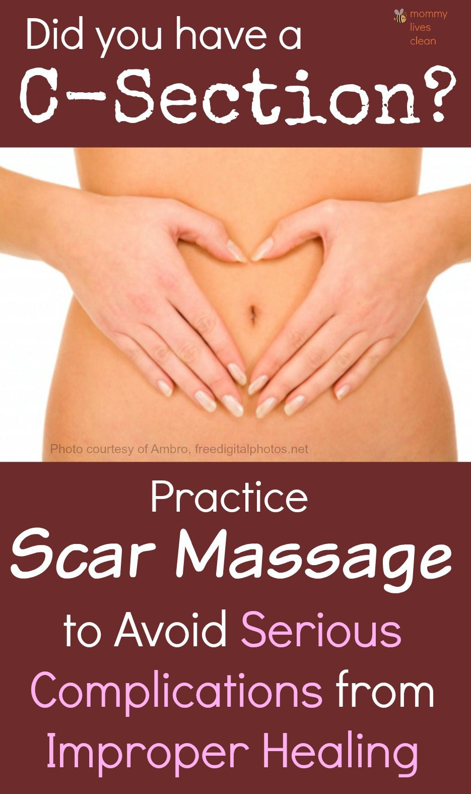 Do you massage your c section scar massage helps to avoid adhesions scar tissue which binds organs together causing serious problems later in life talk