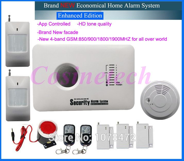 Cheap Helpful Home Security Gsm Alarm System With App