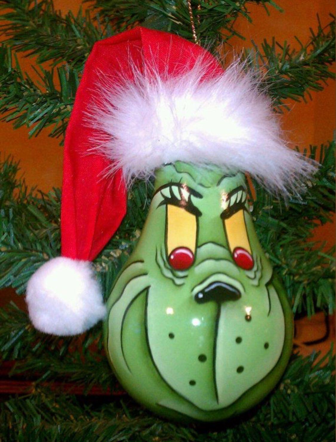 Grinch Lightbulb Christmas Ornaments Xmas Crafts Grinch Christmas Decorations