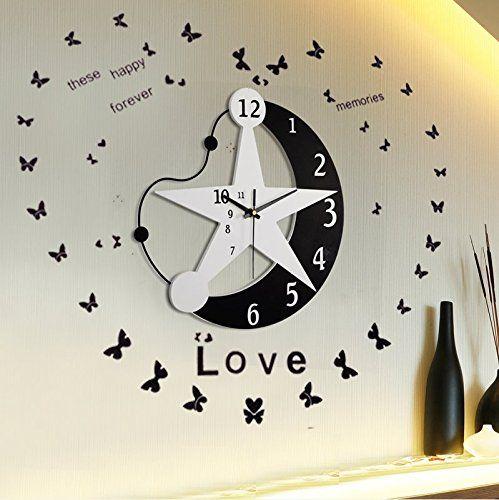 LifeUp- Orologio da Parete Moderni Design Silenzio, Decorazioni ...