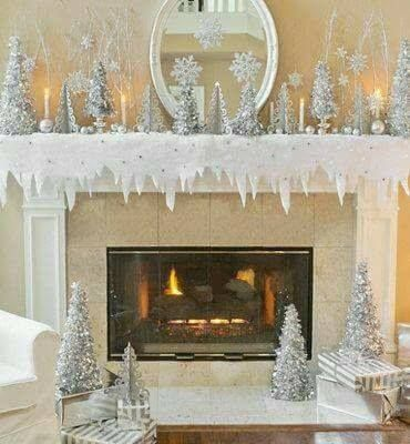 Pin by Gayle Hill on Gayle Hill Pinterest Christmas decor - christmas fireplace decor