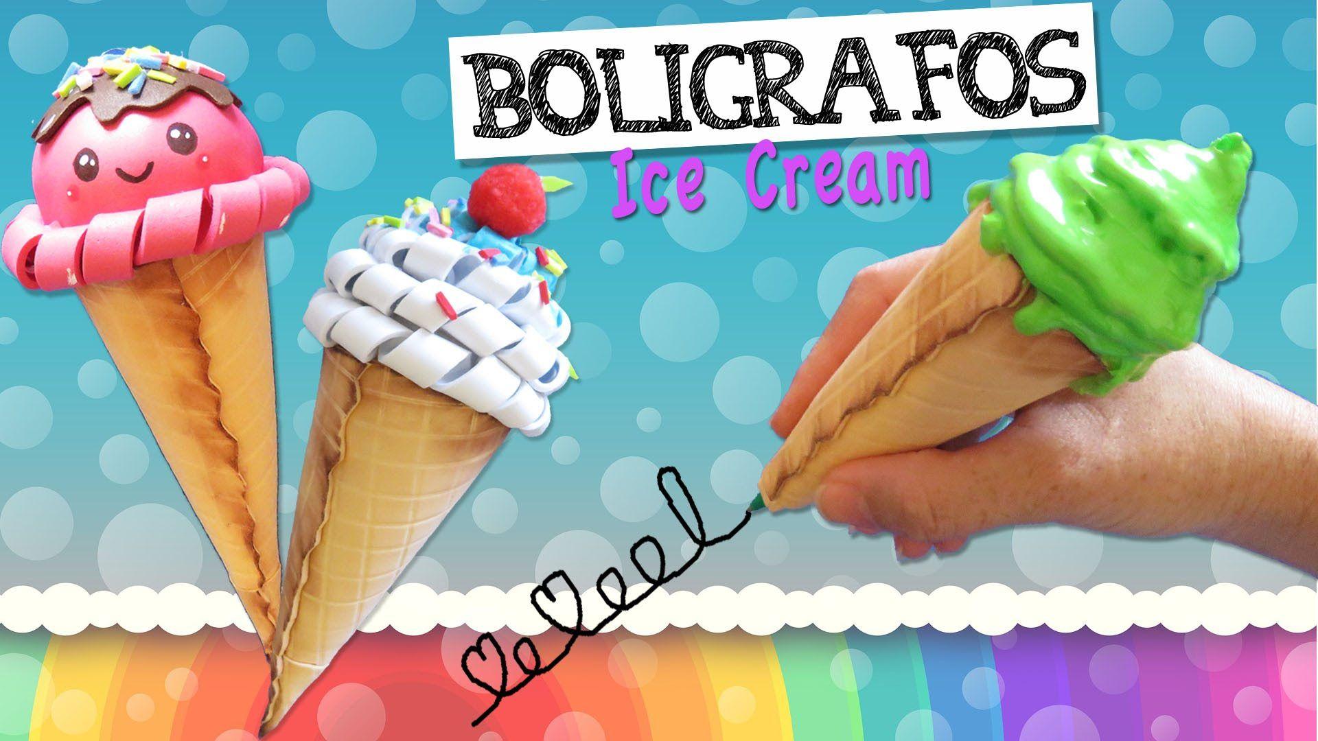 BOLÍGRAFOS Ice Cream - Bolis con forma de Cono Helado | ideas ...