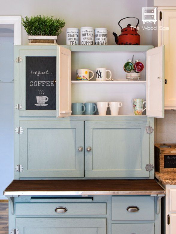 Hoosier Cabinet Made Into A Coffee Bar Kitchen Hoosier