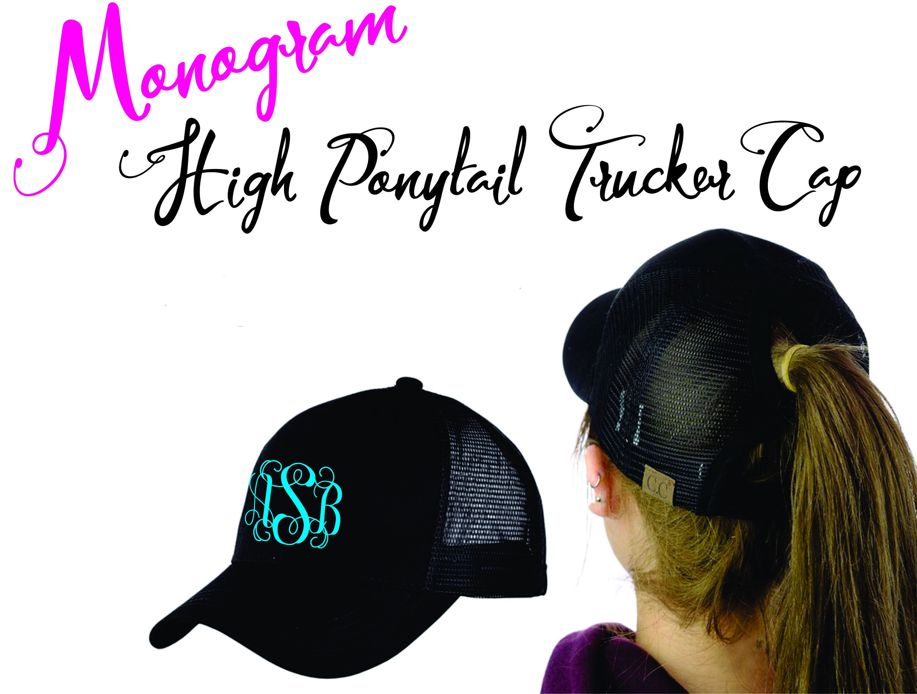 74381bf40a4 High Ponytails · Etsy Shop · Monogram · Cap · Baseball Hat · Monograms · A  personal favorite from my Etsy shop https   www.etsy.com