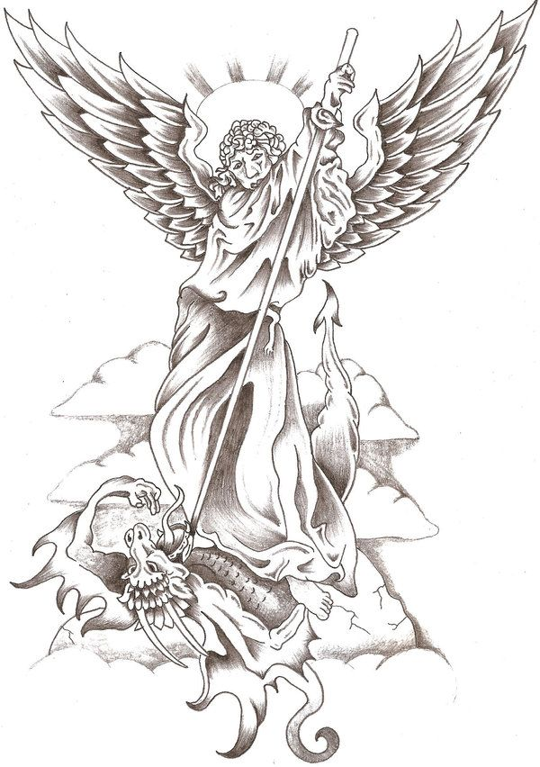 St. Michael 1 by TheLob on DeviantArt | Drawing Archangel Gabriel ...